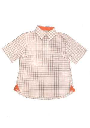 Ormiston Junior College SS Blouse Burnt Orange/Grey